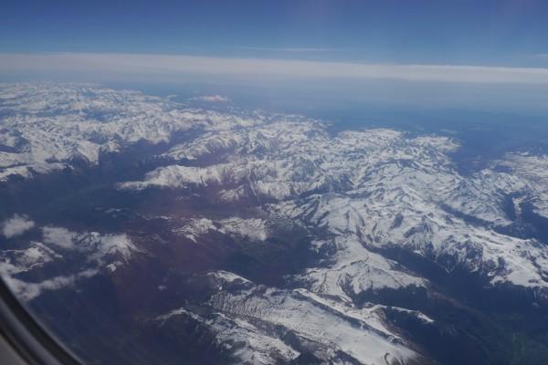 Flug über die Pyrenäen