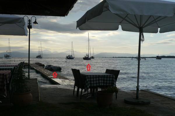 Taverne in Petriti, Korfu