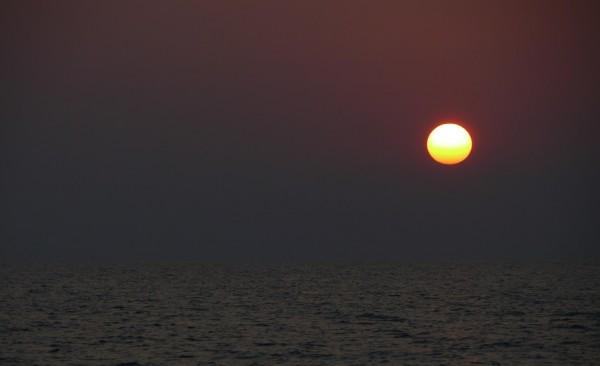 Sonnenaufgang auf dem Weg nach Griechenland