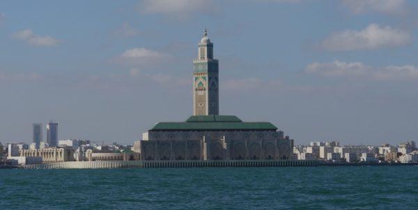 riesige Moschee in Casablanca